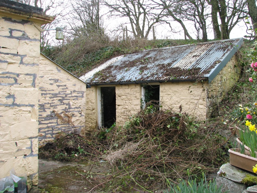 These are the stone sheds after their first denuding...