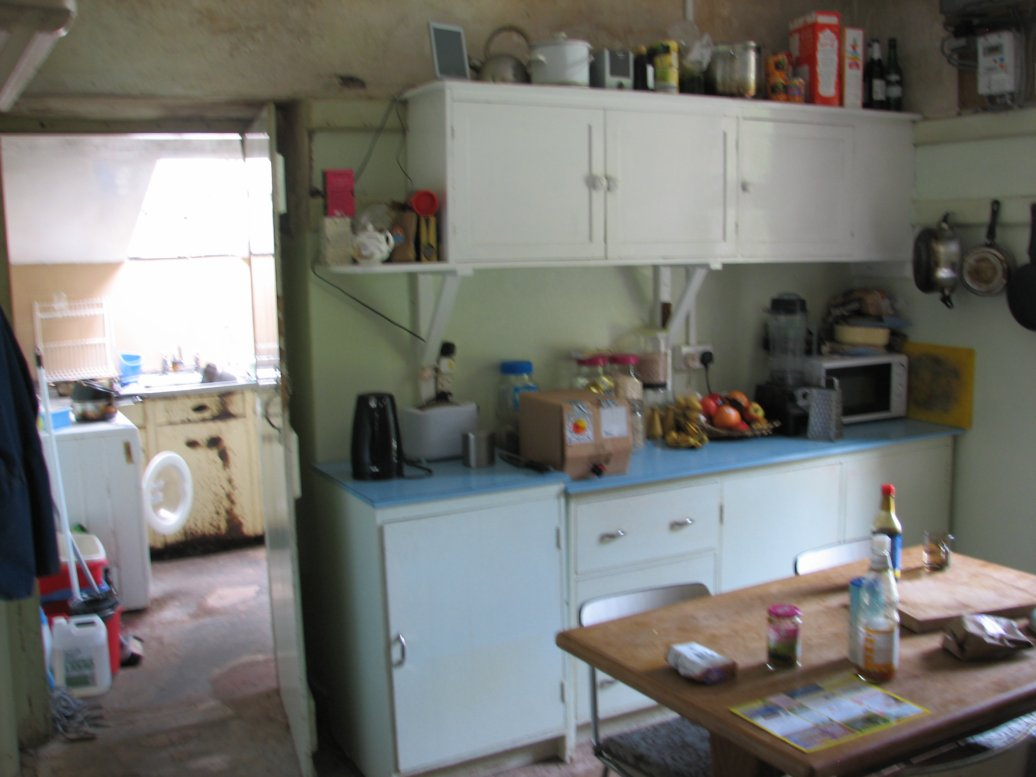 The kitchen - now very much in use!