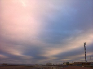 Morecambe sky (with the polo tower)
