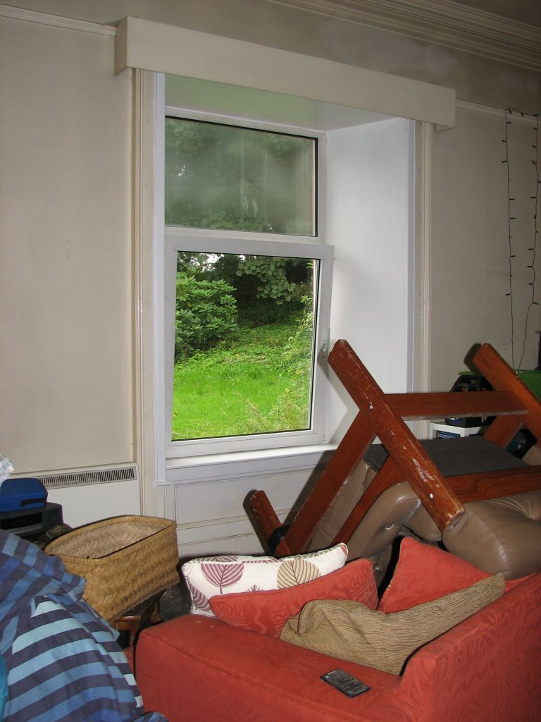 What was the sitting room (with the view out to the Isle of Man) was also included in the makeover...