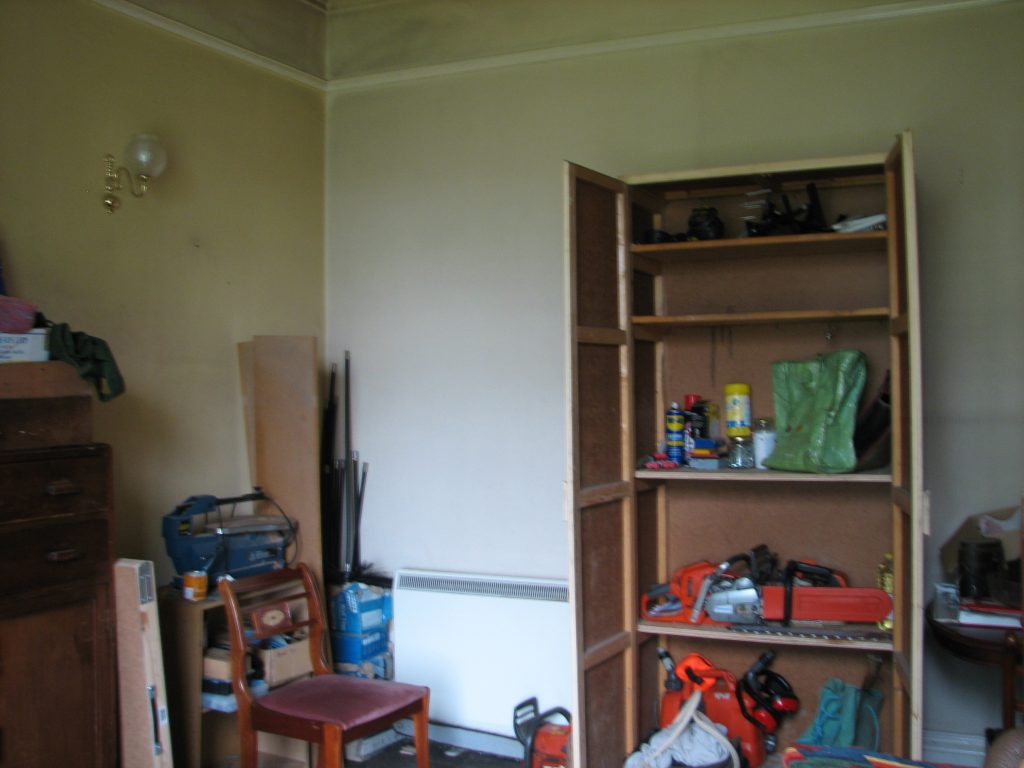 """...and is now the tool room. Still in progress in terms of getting shelves sorted and the like but this now means Chris and I now both have """"work rooms"""" - mine, the office.; his, the tool room"""