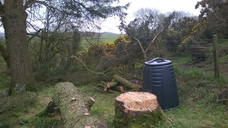 ...and the resultant stump