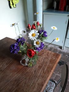 June is birthday month for me and this is a lovely posey given to me by local friends, all from their own garden. Gorgeous
